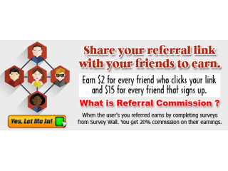 Earn easy $15 dollars for every referral