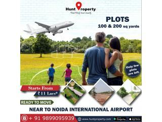 Ready to Move plots near Noida International Airport.Contact Hunt Property.