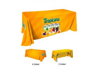 Custom Tablecloths | Trade Show Table covers - Branded Canopy Tents