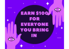 EARN UNLIMITED $100.00 COMMISSIONS STRAIGHT TO YOU AS A SELLER