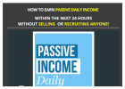 Earn a Passive Daily Income From Home